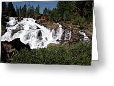 Running Water Glen Alpine Falls Greeting Card