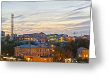 Russian City Night Greeting Card