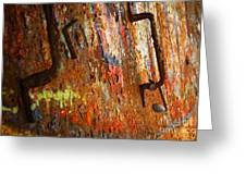 Rust Background Greeting Card