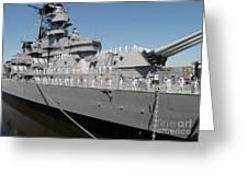 Sailors Man The Rails Greeting Card