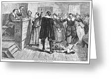 Salem Witch Trials, 1692 Greeting Card by Granger