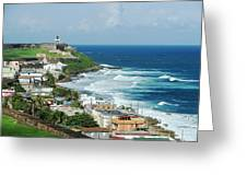 San Juan Pr From The Old Town Fort Greeting Card