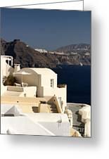 Santorini View Greeting Card
