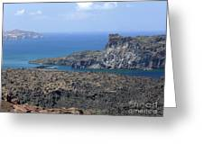 Santorini Volcano Greeting Card
