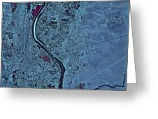 Satellite View Of Albuquerque, New Greeting Card