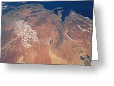Satellite View Of Planet Earth Greeting Card