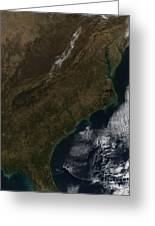 Satellite View Of The Southeastern Greeting Card