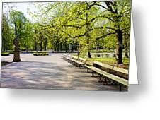 Saxon Garden In Warsaw Greeting Card