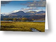Scottish Landscape View Greeting Card