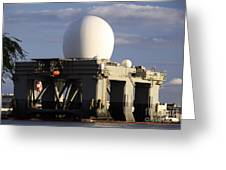 Sea Based X-band Radar Dome Modeled Greeting Card