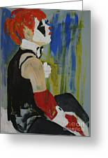 Seated Lady Clown Greeting Card