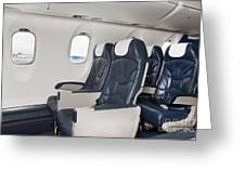 Seats On An Airliner Greeting Card by Jaak Nilson