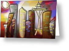 Seattle Greeting Card by Melisa Meyers