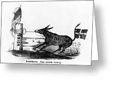 Secession Cartoon, 1861 Greeting Card