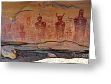 Sego Canyon Indian Petroglyphs And Pictographs Greeting Card