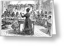 Segregated School, 1870 Greeting Card
