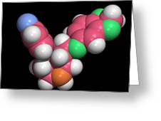 Seroxat (paroxetine) Molecule Greeting Card