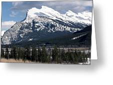 Sharp Rundle Peaks Greeting Card