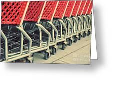 Shopping Carts Greeting Card