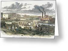 Shreveport Levee, 1872 Greeting Card