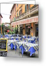 Sidewalk Cafe In Italy Greeting Card