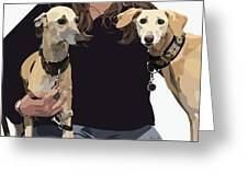 Sighthounds II Greeting Card by Kris Hackleman