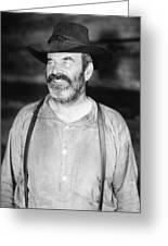 Silent Film Still: Beards Greeting Card
