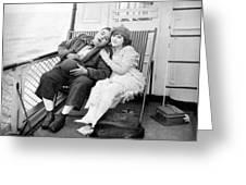 Silent Film Still: Ships Greeting Card