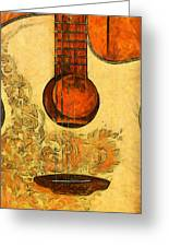 Six-string Acoustic II Greeting Card