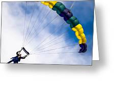 Skydivers Greeting Card