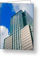 Skyscraper Front View With Blue Sky Greeting Card