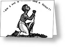 Slavery: Woman, 1832 Greeting Card