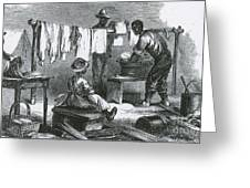 Slaves In Union Camp Greeting Card