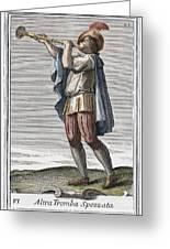 Slide Trumpet, 1723 Greeting Card