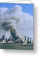 Smoke Billows Over Manhattan Greeting Card