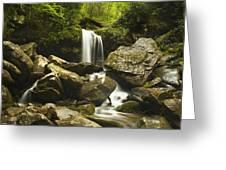 Smoky Mountain Waterfall Greeting Card by Andrew Soundarajan