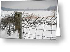 Snow Fence  Greeting Card by Sandra Cunningham