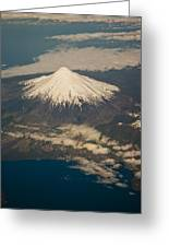 Snowcovered Volcano Andes Chile Greeting Card
