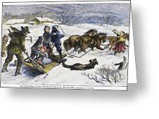 Snowstorm In The Country Greeting Card