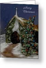 Snowy Christmas Eve Greeting Card