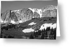 Snowy Range In Summer Greeting Card