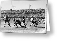 Soccer Match, 1930s Greeting Card