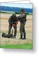 Soldiers Of The Belgian Army Greeting Card