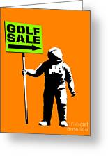 Space Golf Sale Greeting Card