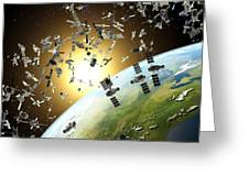 Space Junk, Conceptual Artwork Greeting Card