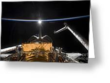 Space Shuttle Atlantis Payload Bay Greeting Card