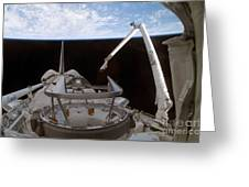 Space Shuttle Discoverys Payload Bay Greeting Card
