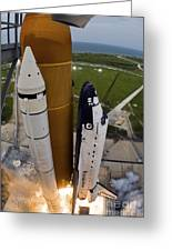 Space Shuttle Endeavour Lifts Greeting Card