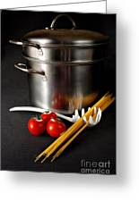 Spaghetti Greeting Card by HD Connelly