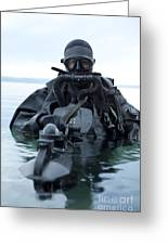 Special Operations Forces Combat Diver Greeting Card